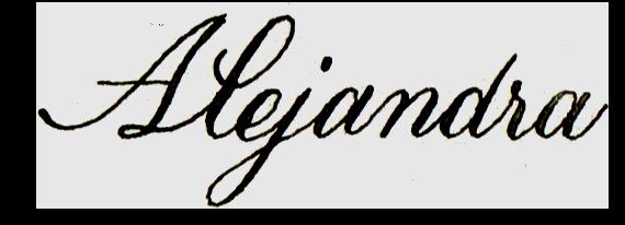 Alex's signature